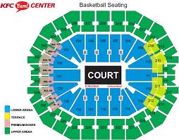 Uva Basketball Seating Chart Louisville Mens Basketball Vs Virginia Kfc Yum Center