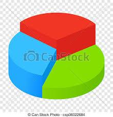 Transparent Pie Chart Isometric Pie Chart Icon