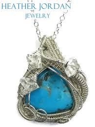 wire wrapped recycled glass pendant. TURQPSS1_1-signed.jpg Wire Wrapped Recycled Glass Pendant R