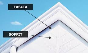 Decor U0026 Tips Seamless Copper Gutters With Soffit And Fascia And Soffit Fascia Paint