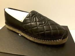NIB Chanel Black CC quilted Espadrilles Mules Ballet Flat shoes 35 ... & Image is loading NIB-Chanel-Black-CC-quilted-Espadrilles-Mules-Ballet- Adamdwight.com