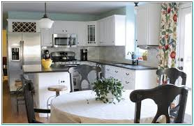 kitchen paint colors with white cabinets and black