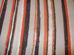 vintage swedish rag table runner peach striped rag rug handwoven rag runner scan