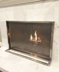 ima fireplace screen simple modern contemporary custom designer hand made luxury one of