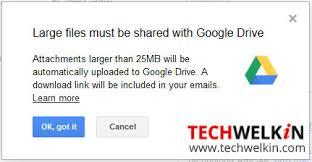 google max attachment size gmail attachment limit send big files using google drive