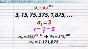 geometric sequence formula examples lesson transcript study com
