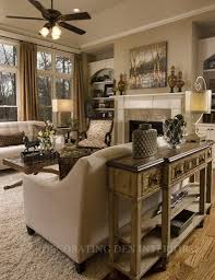 Tuscan Living Room Furniture Rustic Metallic Finishes Mixed In This Console Table Home Is