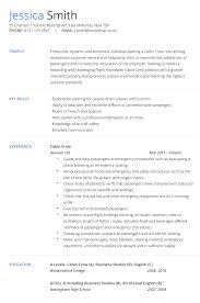 Cabin Crew CV Example and Template
