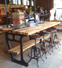 metal kitchen table. Vintage Metal Kitchen Tables And Chairs | Iron Wood Industrial Worktable Island Studio Jennifer Table A