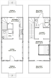 1 Bedroom House Plans With Garage » How To 14x28 Tiny House 14x28h6d 749 Sq  Ft