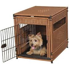 furniture style dog crate. Furniture Style Wicker Dog Crate Looks Like End Table
