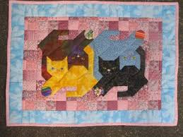 127 best cat quilts images on Pinterest | Health, Iron and Molde & Multiple cats nestled together on this quilt. Do each cat in a  complementary color family with borders that pop. Look for pattern pinned  in this category. Adamdwight.com