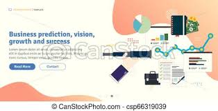 Stock Chart Prediction Business Prediction Vision Growth And Success