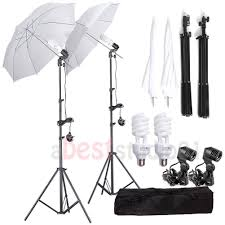 450w photo studio umbrella continuous lighting kit for portrait photography