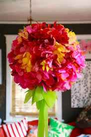 Paper Flower Tissue Paper Giant Tissue Paper Flower Chandelier Ilovetocreate