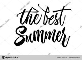 Nejlepší Letní Nápisy Ručně Tažené Kaligrafie Stopy Pera Text