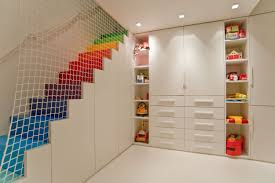 painting shelves ideasEndearing Fun Playroom Ideas For Kids With White Paint Walls Also