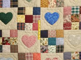 Hearts and Nine Patch Quilt -- outstanding specially made Amish ... & ... Plum Navy and Multicolor Hearts and Nine Patch Quilt Photo 4 ... Adamdwight.com