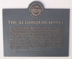 algonquin hotel landmark sign the algonquin round table