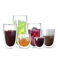 bodum glass mugs double wall glass creative coffee teacup juice mugs milk cafe cup bodum thermo