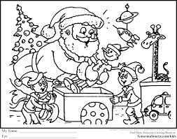 Christmas Coloring Pages For Students L L