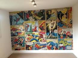 comic book wall display marvel comics room decor comic book wallpaper books strip bedroom inspired wall comic book wall display