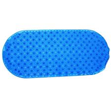 bubble bath mat with microban in blue