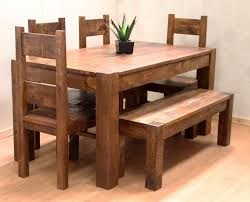 Emmerson Dining Table Rustic Value Maker  HomesFeedWood Bench Dining
