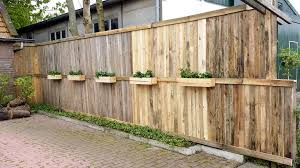 wood pallet fence planter boxes