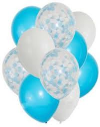 <b>10pcs</b>/<b>lot Confetti</b> Blue Latex Transparent <b>Balloon 12 Inch Balloons</b> ...