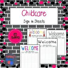 Work Daycare Sign In Sheet Child Care Up Childcare Daily And Out