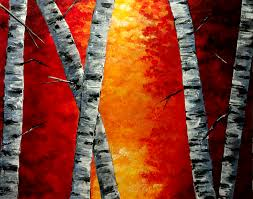 birchology birch trees canvas art acrylic painting