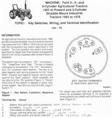 ford 3000 tractor ignition switch Ford Tractor Ignition Switch Wiring Diagram 1700 Ford Tractor Wiring Diagram
