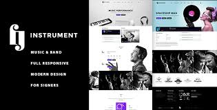 Artist Website Templates Beauteous Instrument Musicians Singers Bands WP Theme Album Artist
