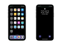 Apple Iphone X Wallpaper Mit Fokus Auf Die Notch