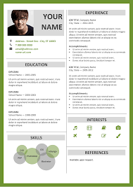 Modern Resume Templates Green Fitzroy Modern Border Resume Template