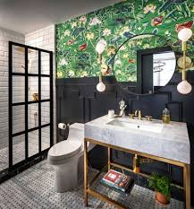 Eclectic Bathroom Stunning Can You Use Wallpaper In A Bathroom