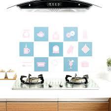kitchen wall decals kitchen wall stickers home decor sticker blue green grid art home decorations supplies