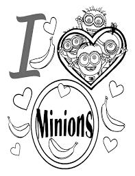 I Love Les Minions Coloriage Minions Coloriages Pour Enfants
