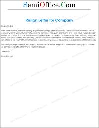 Sample Resignation Letter Word