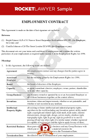 Hr Contract Templates Inspiration Senior Employment Contract Executive Employment Agreement