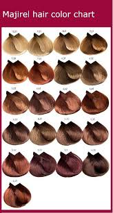 Loreal Hair Colour Chart Reds Majirel Hair Color Chart Instructions Ingredients Hair
