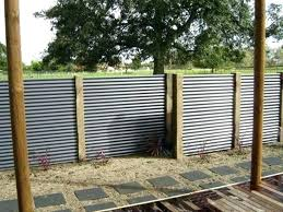 corrugated metal fence cost panels marvelous stylish and popular vs wood for cos