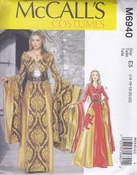 Mccalls Costume Patterns Best Medieval Fantasy Costume Pattern McCalls 48 Sizes 48 48 Etsy