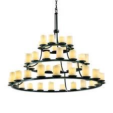 dakota 45 light 3 tier ring chandelier