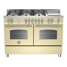 bertazzoni herie series 120 6 burner twin dual fuel range cooker