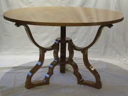 mid century round dining or center hall maple table italy s for with decor round hall table