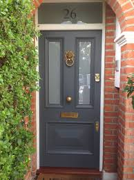 Want This In Red Victorian Front Door In Farrow  Balls Downpipe - Farrow and ball exterior colours