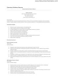 Sample Resume For Adjunct Professor Position Cool Resume Examples For Adjunct Professor Samples Professors College