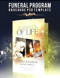 funeral flyer funeral brochure template program celebration of life word